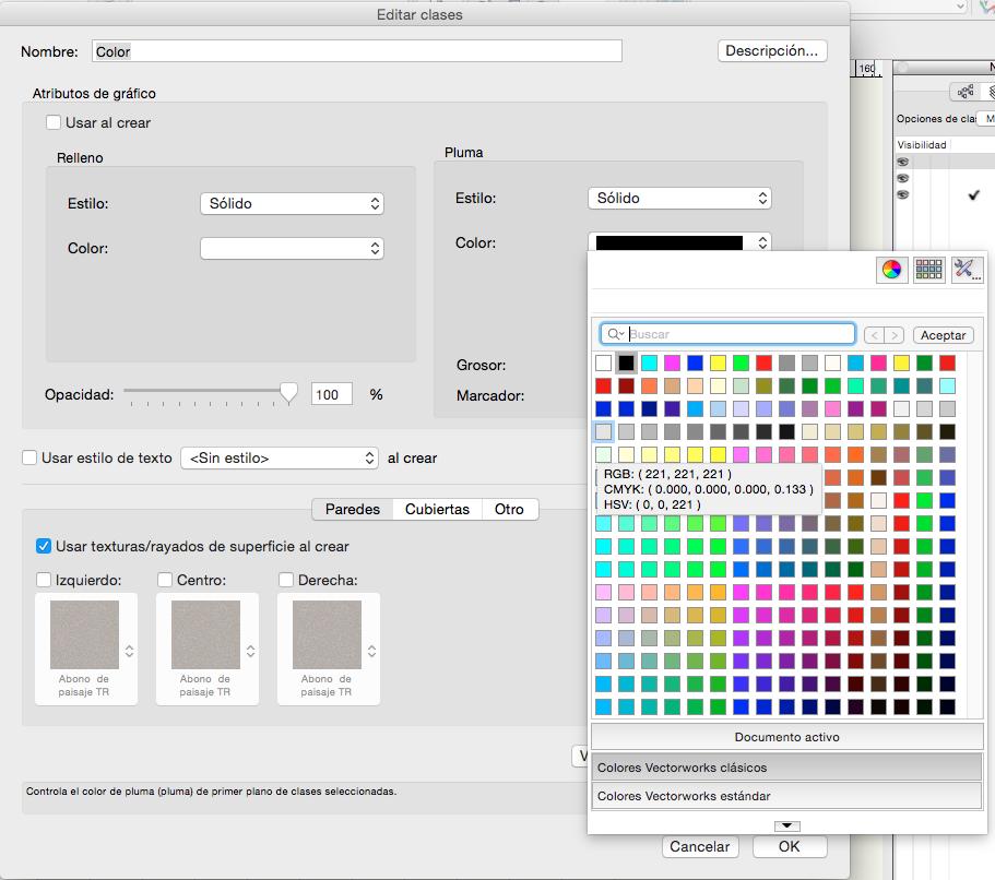 Clases con color